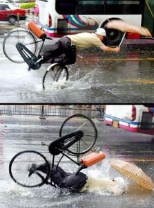 雨と自転車