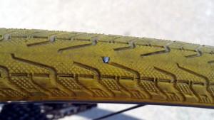 自転車タイヤ パンク