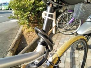 ワイヤー錠 自転車への取り付け2