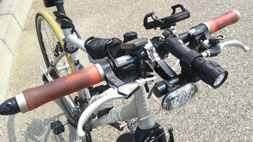 自転車にデイライト装着