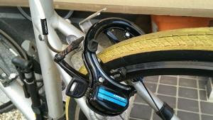 クロスバイクにサークルロックを装着