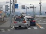 自転車通勤は車の横をスイスイと