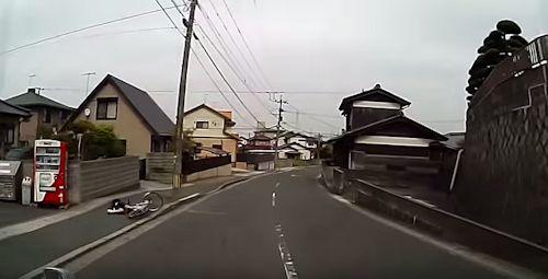 自転車 段差で転倒